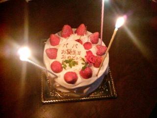 誕生日ケーキ☆嬉しいね
